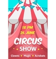 Big Circus Announcement Poster vector image