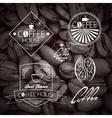 Coffe set Label Vintage Background vector image