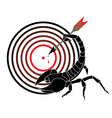 target and scorpion vector image vector image