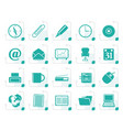 stylized office tools icons vector image vector image