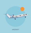 color airplane in the sky vector image