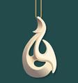 maori bone carving vector image