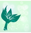Spring background with lily-of-the-valleis vector image