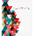 Clean colorful unusual geometric pattern design vector image vector image
