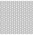 white and black heart seamless pattern vector image