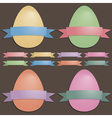 easter eggs and ribbons vector image
