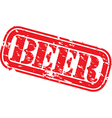 Beer stamp vector image
