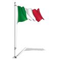 Flag Pole Italy vector image