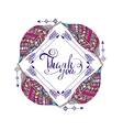 frame for text in the ethnic style of boho vector image