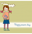 funny young student girl before exam vector image