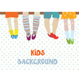 Kids background for kindergarten banner or card - vector image