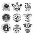party set of emblems badges stickers or vector image