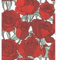 seamless colored background with red roses vector image