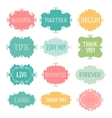 Vintage hand drawn frames set vector image