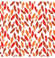 Red and orange autumn leaves grunge seamless vector image