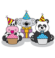 Animals having a party vector image vector image