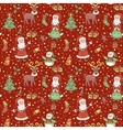 Red christmas pattern with confetti vector image