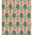 Seamless green pattern with hand drawn stylized vector image
