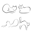 abstract of cats vector image