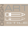 Design style Art composition vector image