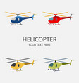 helicopter set isolated on vector image