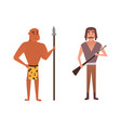 hunters cartoon vector image