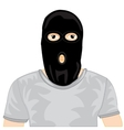 Persons in black mask vector image