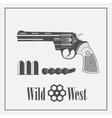 Wild West revolver vector image