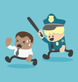Young African businessman Being persecuted police vector image