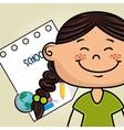 girl cartoon school student icon vector image