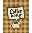 cup of coffee and picture frame vector image vector image