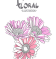Beautiful gerbera vector image