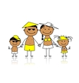 Summer holidays Happy family for your design vector image vector image