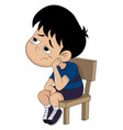 cute kid boring everything vector image