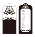 elegant menu for the restaurant brown with white vector image
