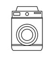 retro photo camera lens equipment photography icon vector image vector image