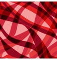 Seamless red wave hand-drawn pattern vector image