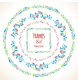 Color floral elements and frames set vector image vector image