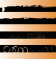 4 Black Grunge Strips 1 vector image