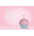 cupcake aniversery vector image