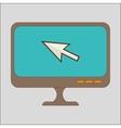 Computer pointer arrow vector image