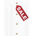 shirt with sale tag vector image vector image