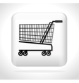 cart shopping icon button vector image