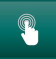 click here icon hand cursor signs white button vector image