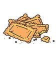 cookies cartoon hand drawn image vector image