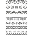 floral ethnic border vector image