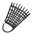 Hand drawn plastic shuttlecock vector image