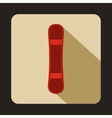 Red snowboard sport board icon flat style vector image