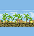 seamless cartoon nature background with separate vector image