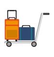isolated luggage icon vector image